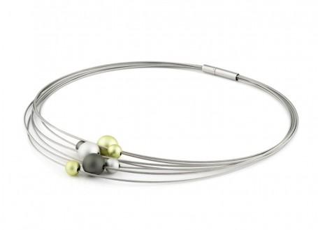 Neu 300dpiStep-by-Step-Collier-Edelstahl-Aluminium-silber-lemon-anthrazit